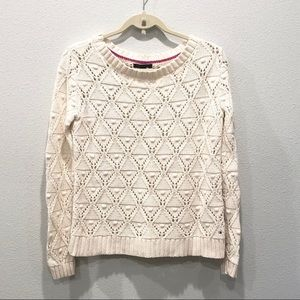 Tommy Hilfiger Cable Knit Sweater Beige Small